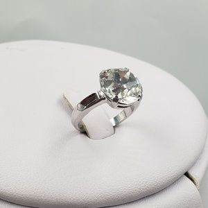 Jewelry - 1940's Sterling Silver Rhinestone Engagement Ring